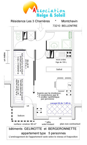 appartement 5 personnes Gélinotte/Bergeronnette